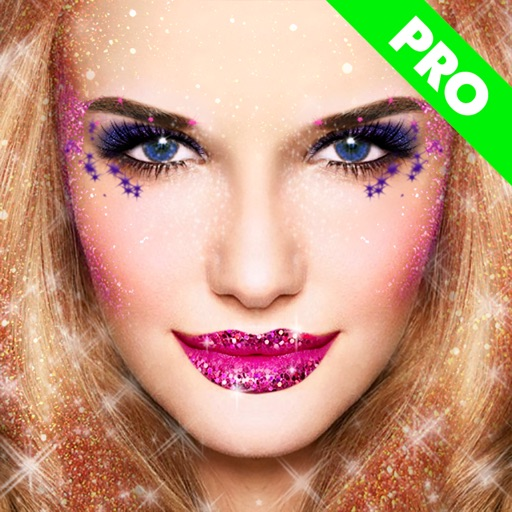 Glitter Makeup Camera Pro - Glamour Makeup Effect