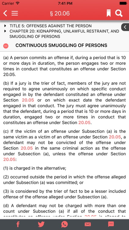 Texas Penal Code 2017 screenshot-1