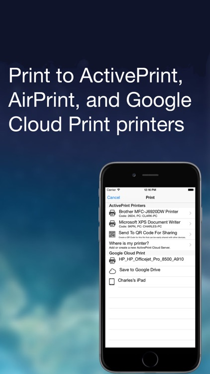 ActivePrint (Easy Mobile Printing)