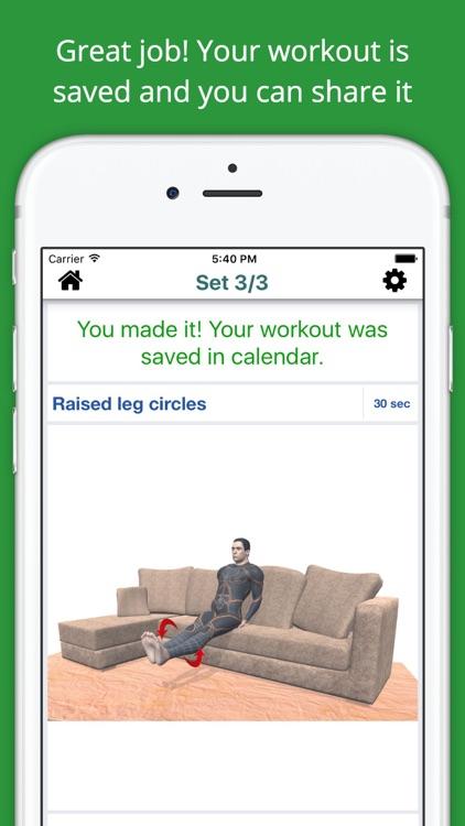 Home Sofa Workout Challenge Free - Lose Weight screenshot-3