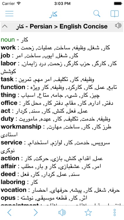 Persian Farsi English Dictionary Pro & Translator screenshot-4