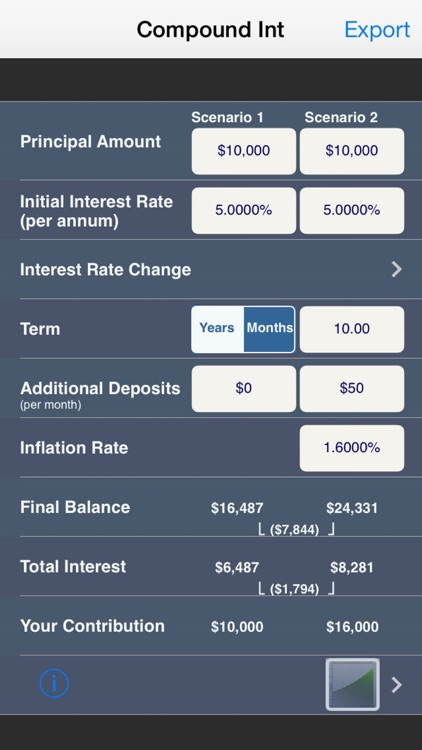Compound Interest Calculator Plus screenshot-3