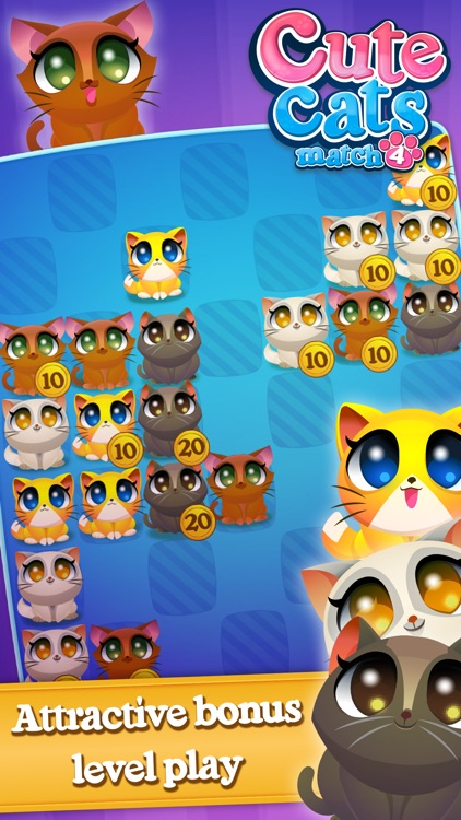 Cute Cats Match-4 screenshot-4