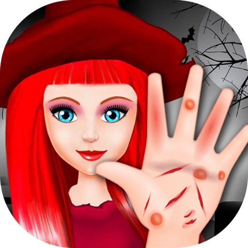 Halloween Girl Hand Treatment