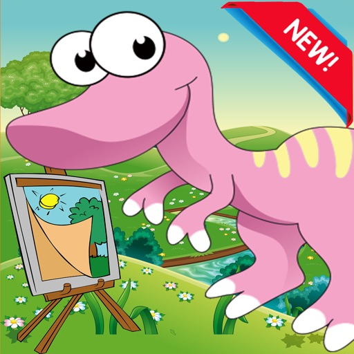 Color ME: Dinosaur Coloring Book Pages Kids Adults iOS App