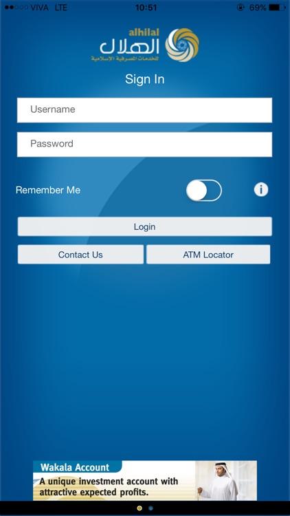 AUB Alhilal M-Bank for Mobile