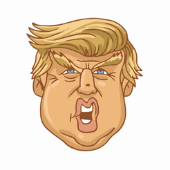 ‎The President Stickers - Trump