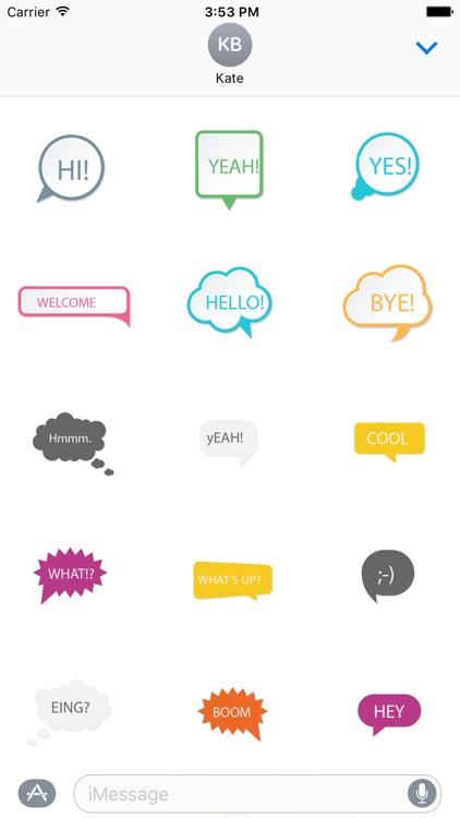 Speech Sticker