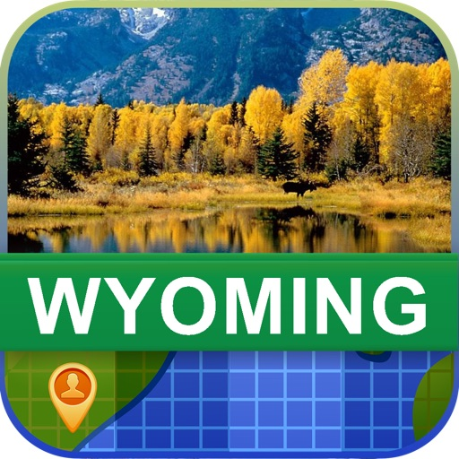 Offline Wyoming, USA Map - World Offline Maps