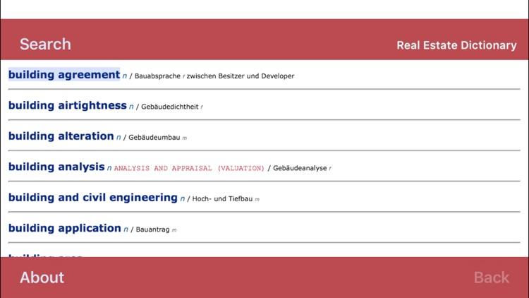 Real Estate Dictionary screenshot-4