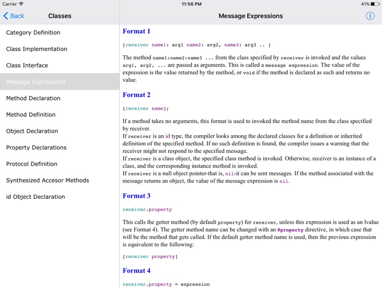 Objective C Reference HD screenshot-3