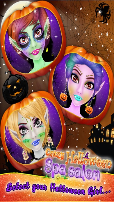 Crazy Halloween Salon for Girls - Kids game screenshot two
