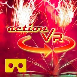 VR Drone Flight Through Fireworks Virtual Reality