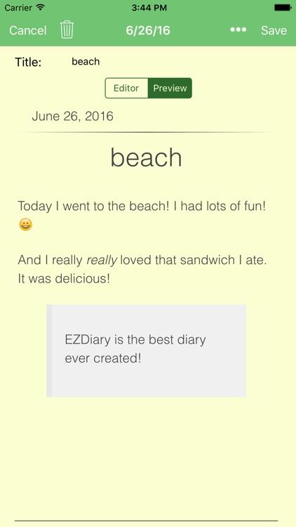 EZDiary - My Diary