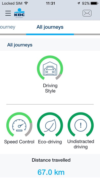 KBC DriveSafe Screenshots