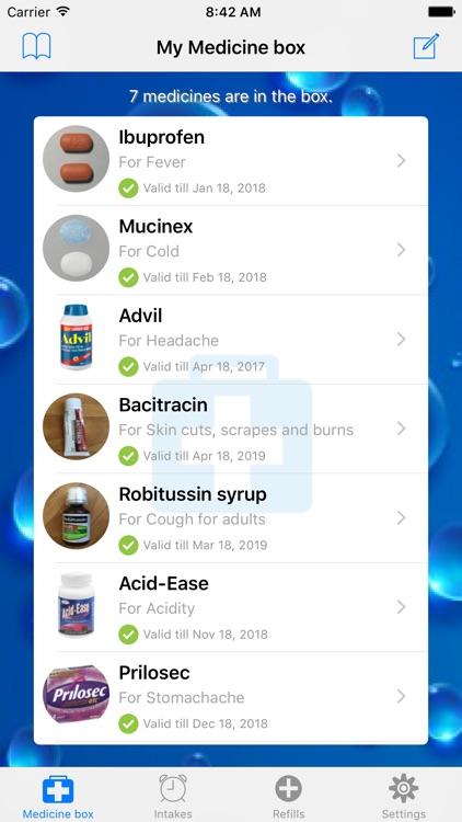 Medication list & Reminders screenshot-0