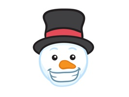 Snowman Face Stickers - Christmas Snowman