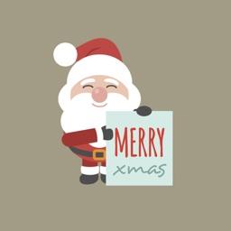 Santa Stickers - Xmas, Merry Christmas