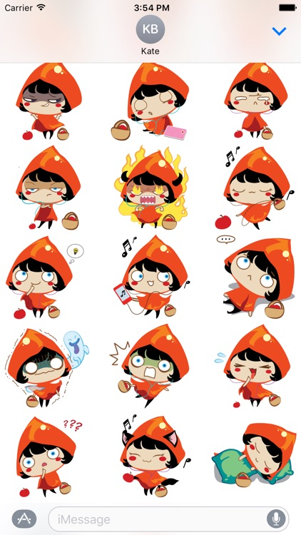 Red Riding Hood Stickers