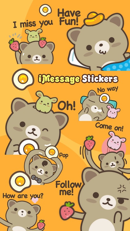 Strawberry Cat - Cute Stickers by NICE Sticker screenshot-4