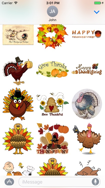 Thanksgiving for iMessage