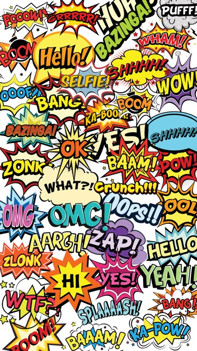 OMG Bazinga Comic Book Speech Bubbles Stickers-0