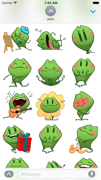 Frog Emotion Cute Sticker screenshot-1