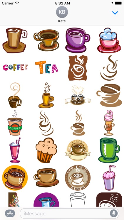 Coffee and Tea Stickers