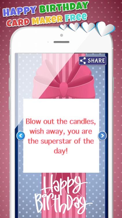 Happy Birthday Card Maker Free–Bday Greeting Cards screenshot-4