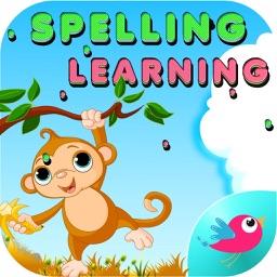 kids Spelling Practice Animals -Phonics Words Free
