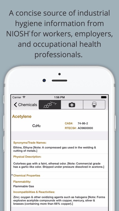 Chemical Hazards Pocket Guide review screenshots