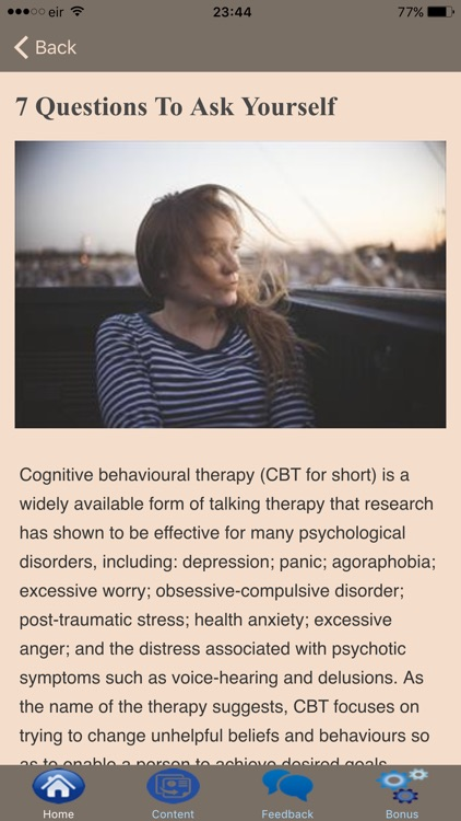 Cognitive Behavioral Therapy - Overcoming Stress screenshot-4