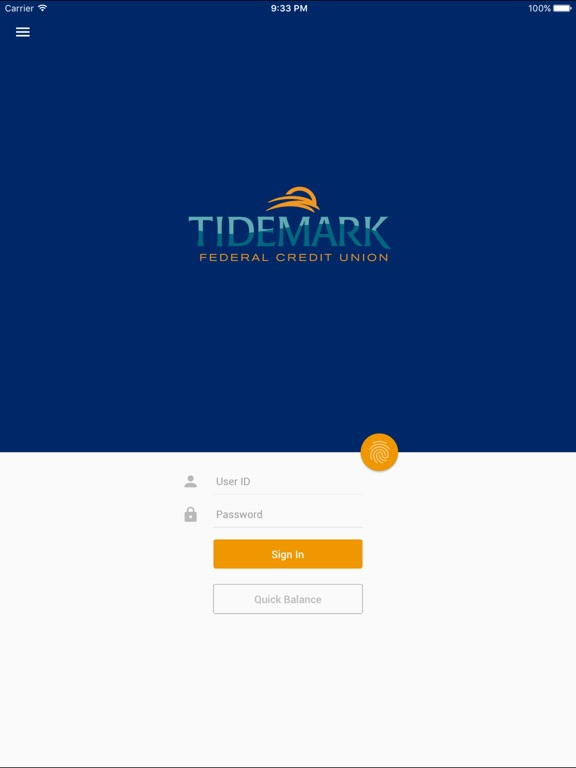 Tidemark FCU Mobile Banking-ipad-0