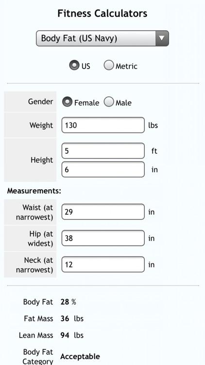 Fitness Calcs screenshot-3
