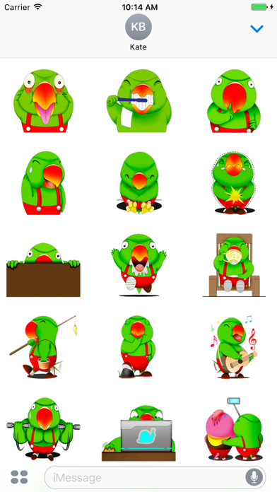 Funny Parrot - Cute stickers for iMessage APK cho Android - Tải