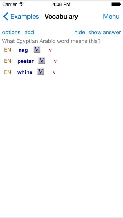 Egyptian Arabic Dictionary screenshot-4