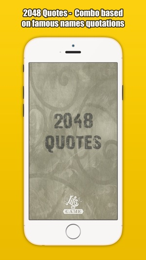 2048 Quotes Combo Based On Famous Names Quotes On The App Store