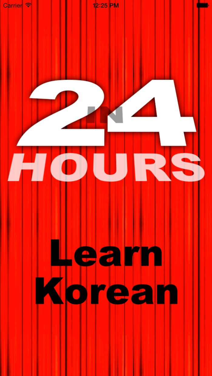 In 24 Hours Learn to Speak Korean Screenshot