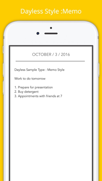 Dayless - Simple Diary App screenshot-3