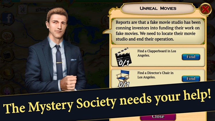 Hidden Objects Mystery Society screenshot-4