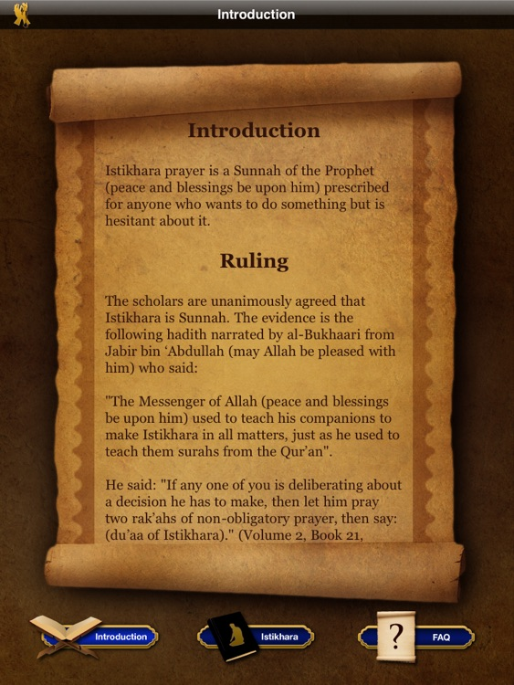 Istikhara duaa - Guidance prayer in Islam For iPad