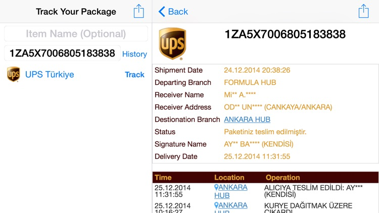 Parcel Tracker screenshot-2