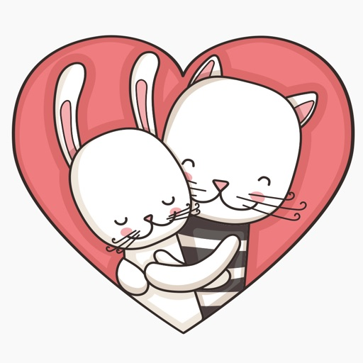 Megapack Cat & Hare  –  Couples Stickers