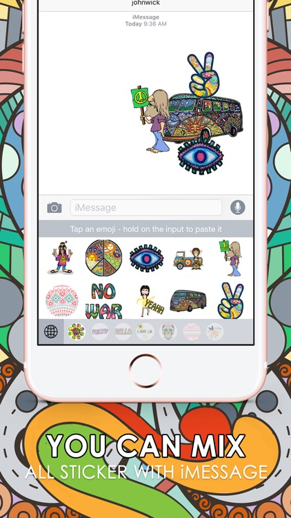 Hippie Emoji Stickers Keyboard Themes ChatStick