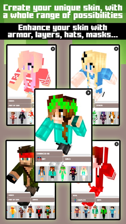 Skins for Minecraft PE & PC - Free Skins