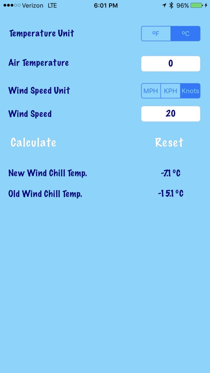 Wind Chill Calculator