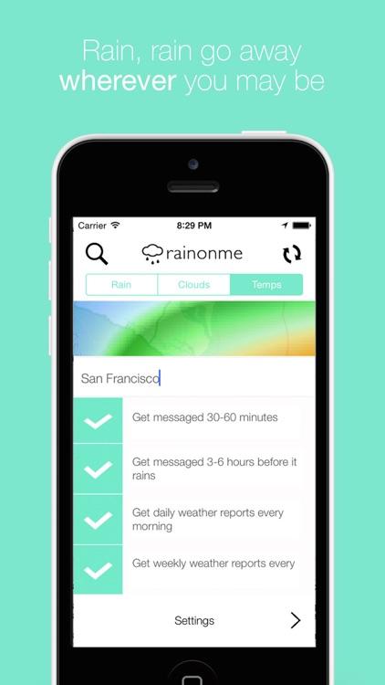 Rainonme - Darksky Rain Alerts, Radar & Maps