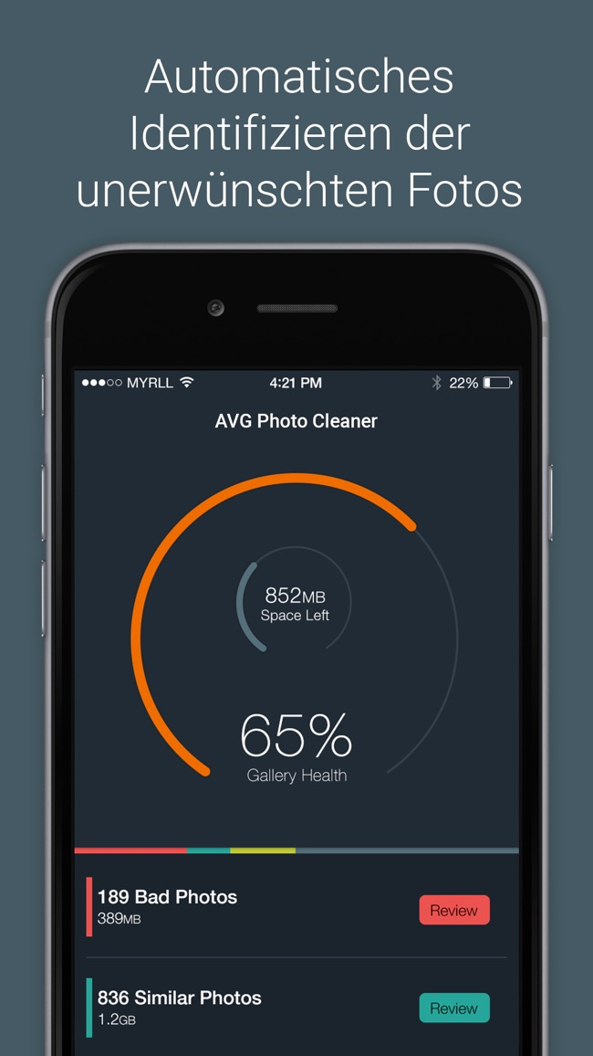 AVG Photo Cleaner – Verwaltung und Bereinigung Screenshot