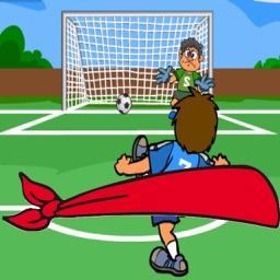 Blindfold Soccer Kick