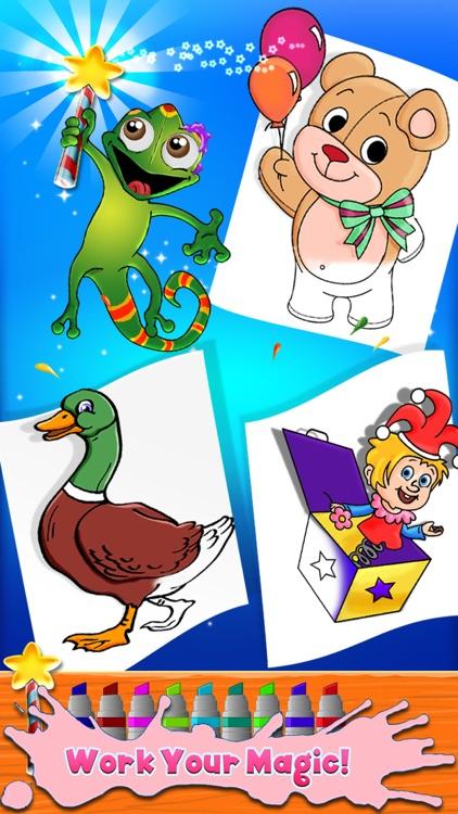 Kids Coloring Book - draw, color & paint studio